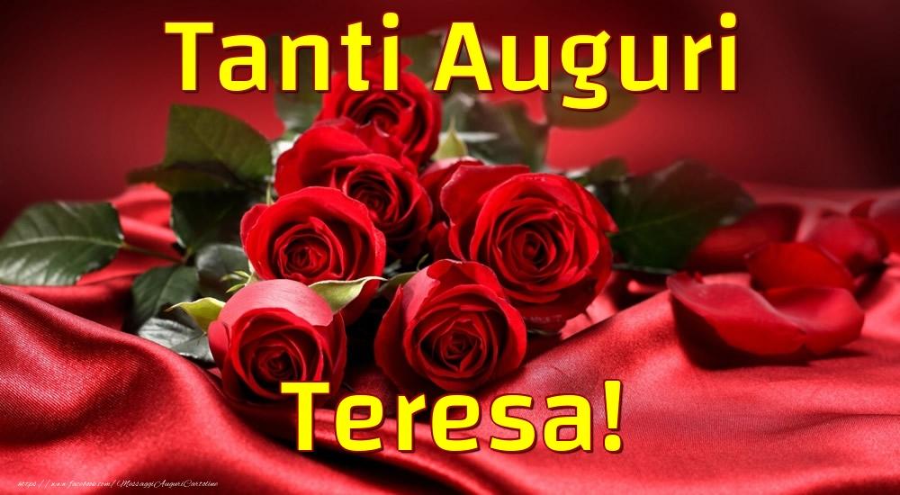 Cartoline di auguri   Tanti Auguri Teresa!