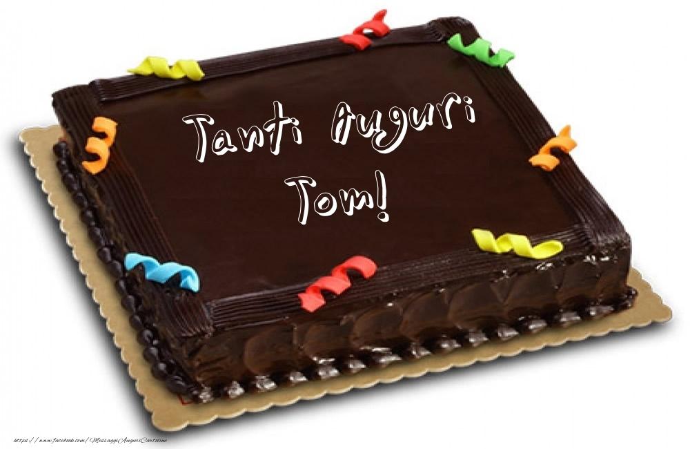 Cartoline di auguri | Torta - Tanti Auguri Tom!