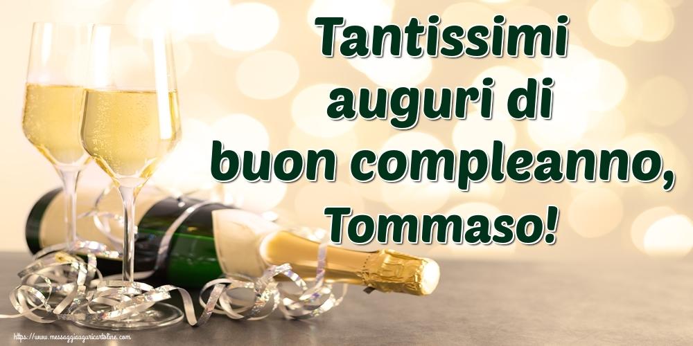 Cartoline di auguri | Tantissimi auguri di buon compleanno, Tommaso!