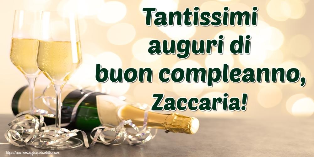 Cartoline di auguri   Tantissimi auguri di buon compleanno, Zaccaria!