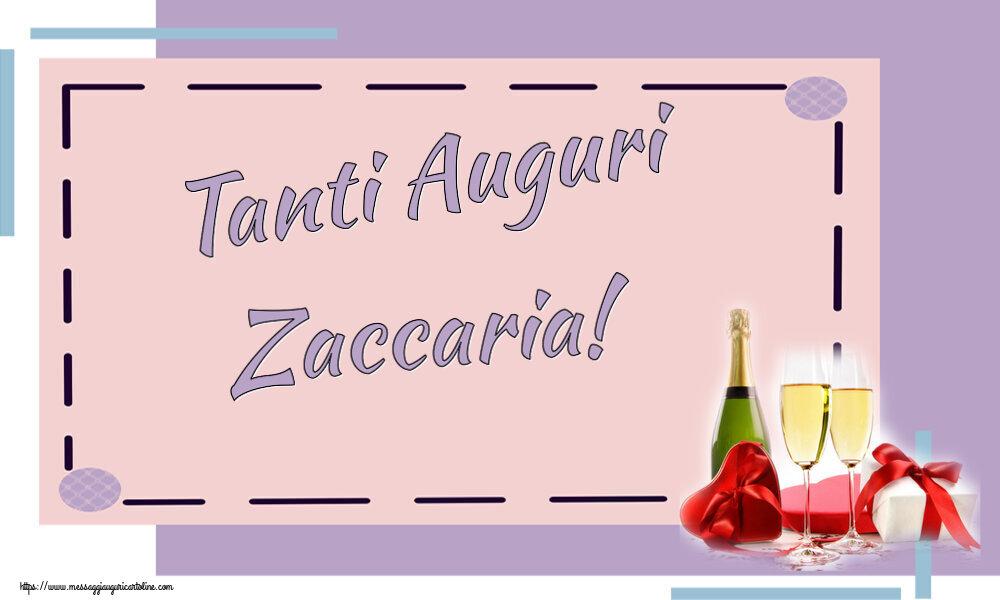 Cartoline di auguri   Tanti Auguri Zaccaria!