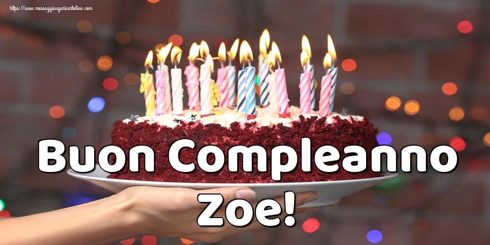 Cartoline di auguri   Buon Compleanno Zoe!