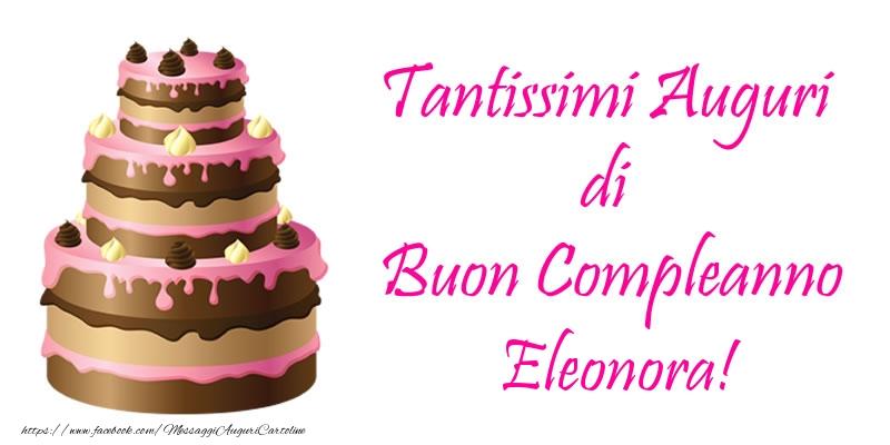 Ben noto Torta - Tantissimi Auguri di Buon Compleanno Eleonora!   Cartoline LK03