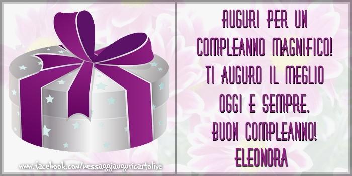 Famoso Auguri per un compleanno magnifico! Ti auguro il meglio oggi e XQ76