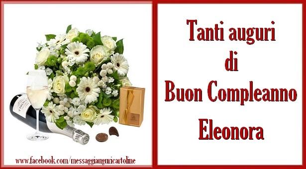 Super Tanti auguri di Buon Compleanno Eleonora   Cartoline di compleanno ZJ57