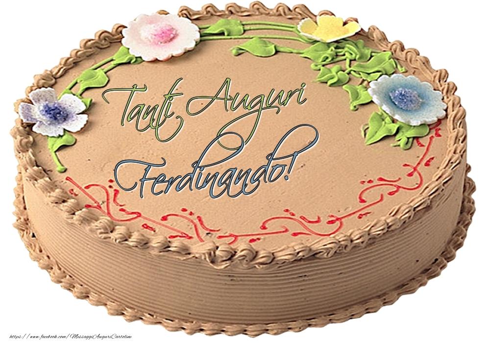 Cartoline di compleanno | Ferdinando - Tanti Auguri! - Torta