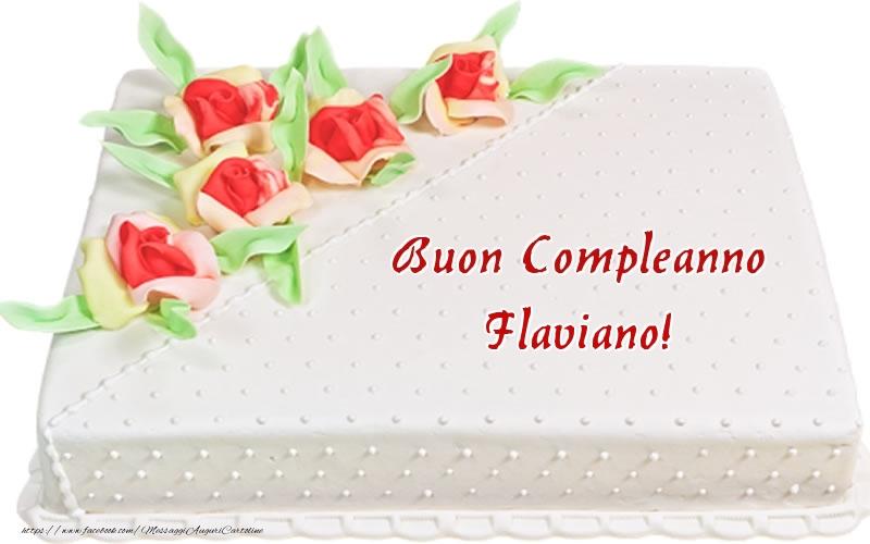 Cartoline di compleanno | Buon Compleanno Flaviano! - Torta