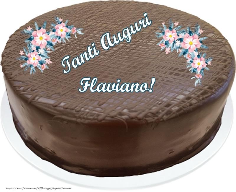 Cartoline di compleanno | Tanti Auguri Flaviano! - Torta al cioccolato