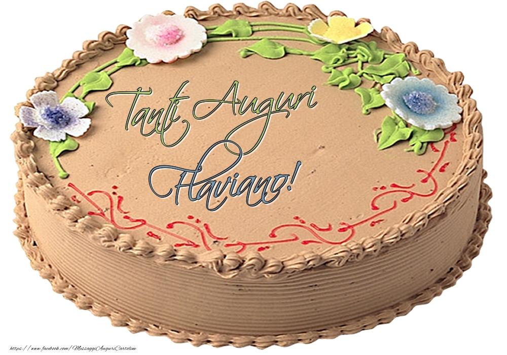 Cartoline di compleanno | Flaviano - Tanti Auguri! - Torta