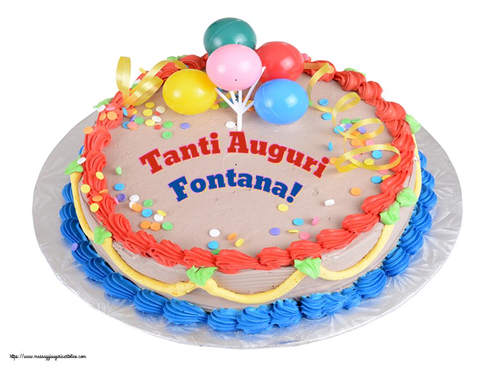 Cartoline di compleanno   Tanti Auguri Fontana!