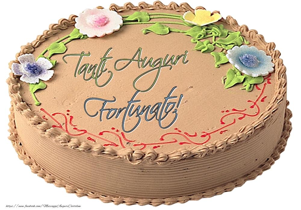 Cartoline di compleanno | Fortunato - Tanti Auguri! - Torta