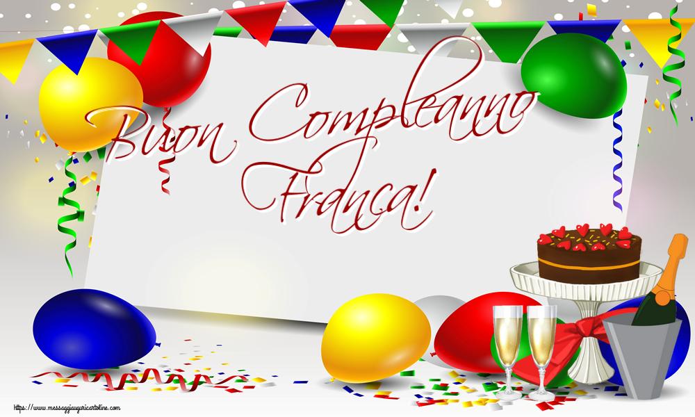 Cartoline di compleanno | Buon Compleanno Franca!