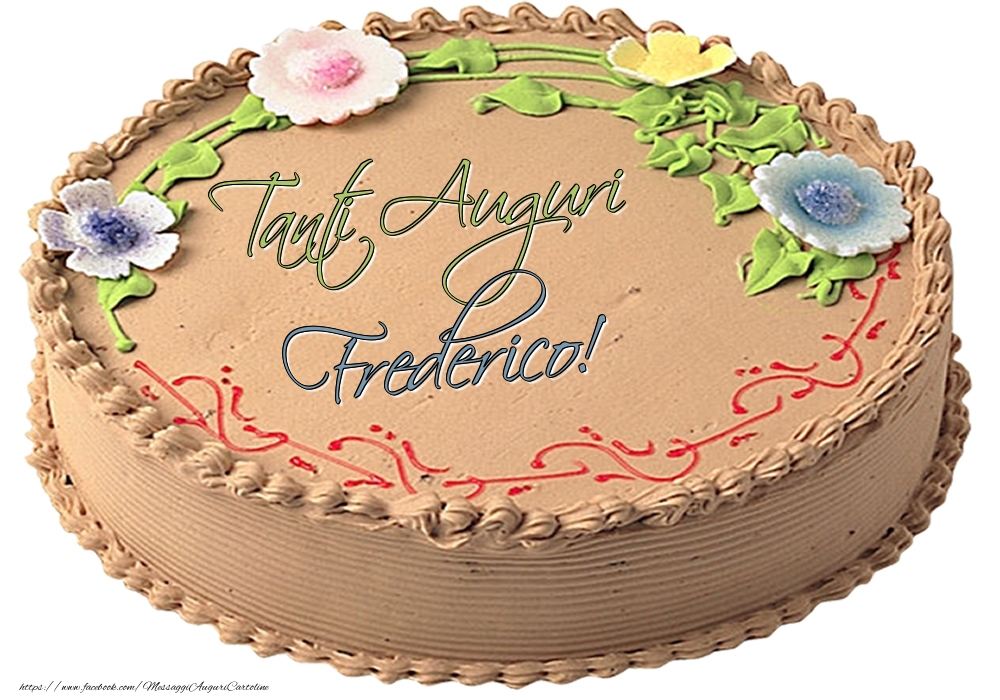 Cartoline di compleanno | Frederico - Tanti Auguri! - Torta