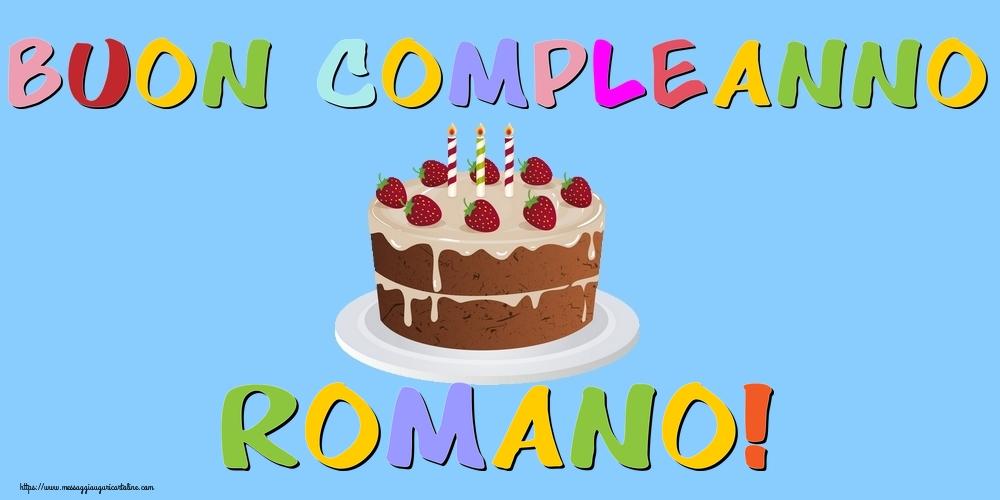 Cartoline di compleanno   Buon Compleanno Romano!