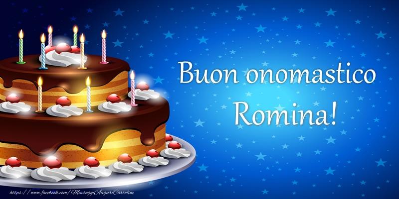Cartoline di compleanno   Buon onomastico Romina!
