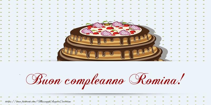 Cartoline di compleanno   Buon compleanno Romina! Torta