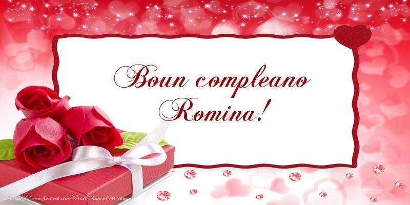 Cartoline di compleanno   Boun compleano Romina!