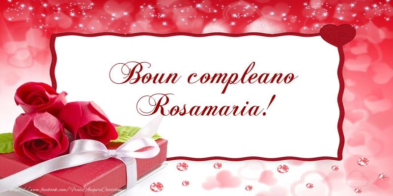 Cartoline di compleanno   Boun compleano Rosamaria!
