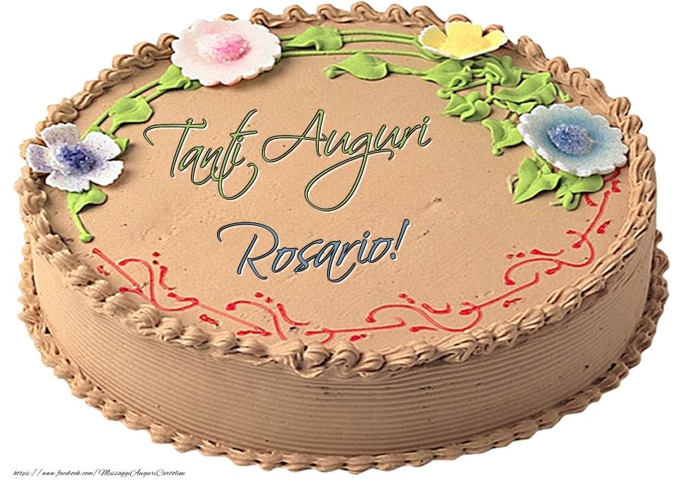 Cartoline di compleanno   Rosario - Tanti Auguri! - Torta