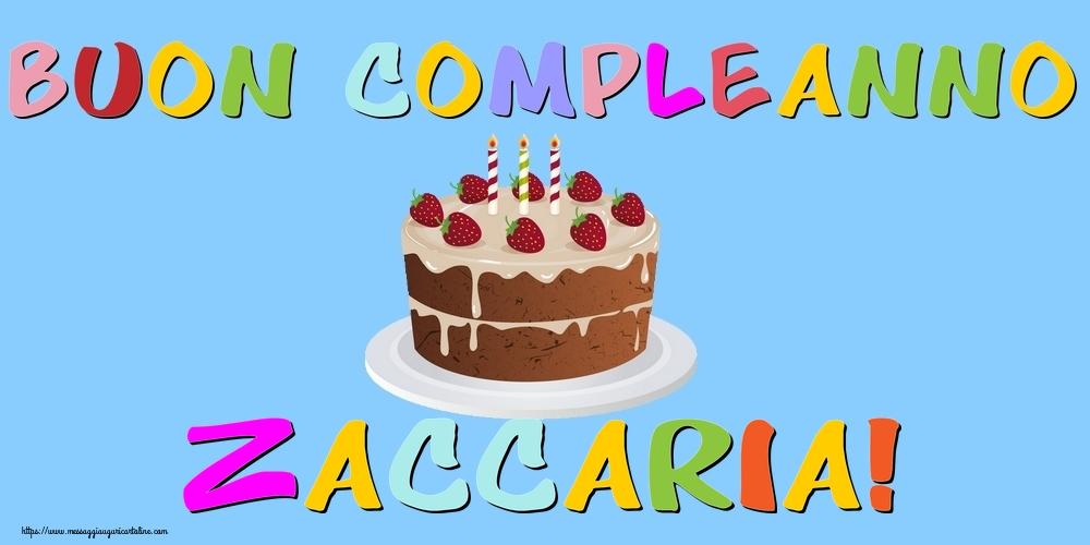 Cartoline di compleanno   Buon Compleanno Zaccaria!