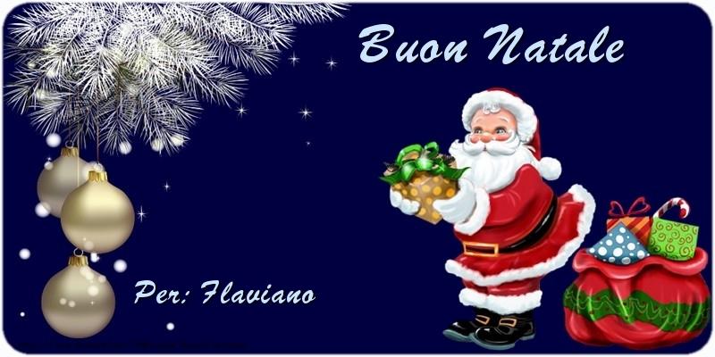 Cartoline di natale   Buon Natale Flaviano