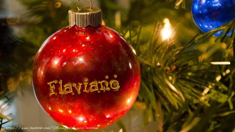 Cartoline di natale   Il tuo nome sul globo di Natale Flaviano
