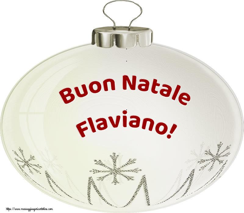 Cartoline di natale   Buon Natale Flaviano!