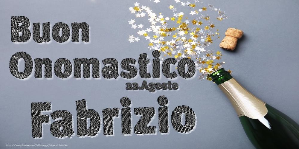 Cartoline di onomastico | 22.Agosto - Buon Onomastico Fabrizio!