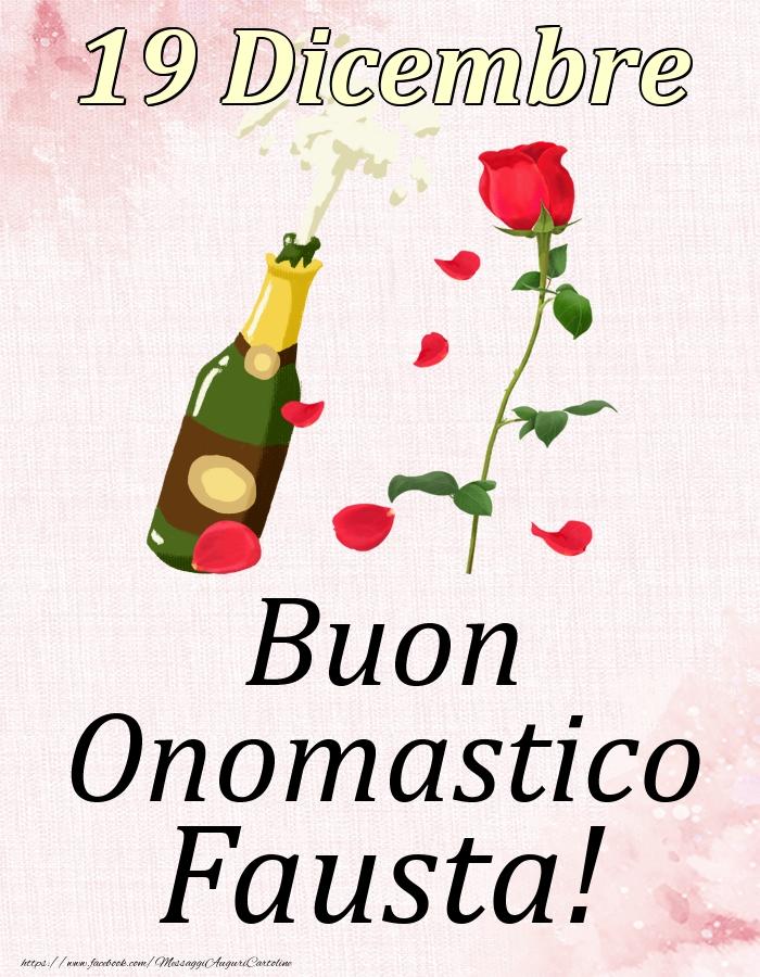 Cartoline di onomastico | Buon Onomastico Fausta! - 19 Dicembre