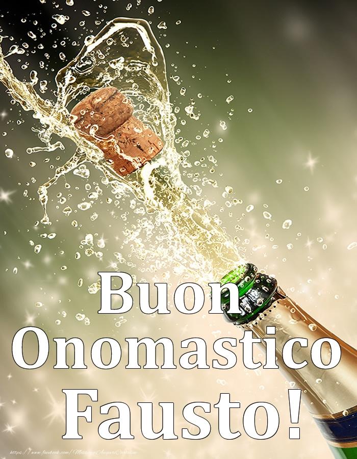 Cartoline di onomastico | Buon Onomastico Fausto!