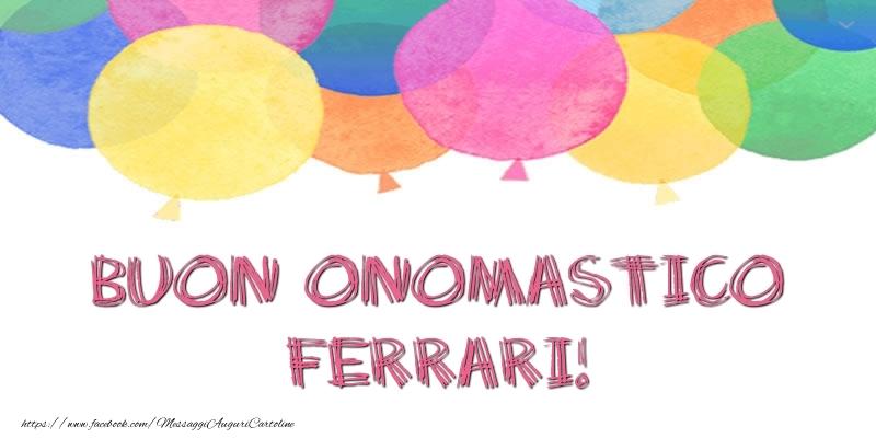 Cartoline di onomastico   Buon Onomastico Ferrari!