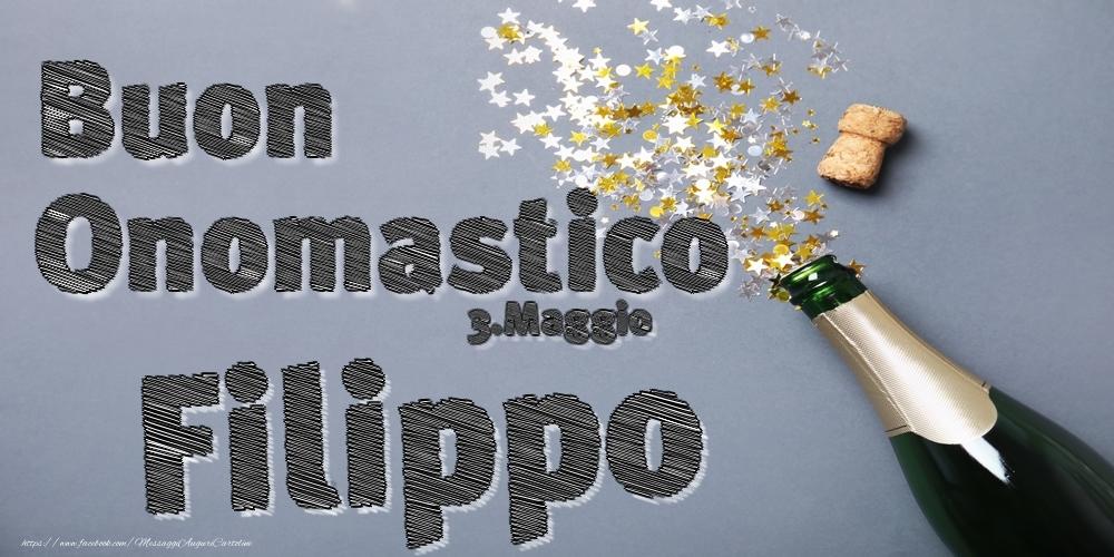 Cartoline di onomastico | 3.Maggio - Buon Onomastico Filippo!
