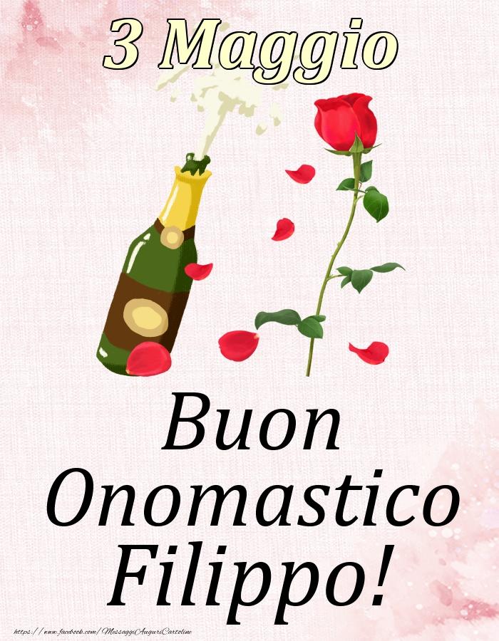 Cartoline di onomastico | Buon Onomastico Filippo! - 3 Maggio