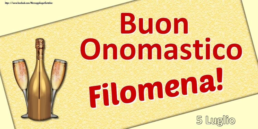 Cartoline di onomastico | Buon Onomastico Filomena! - 5 Luglio