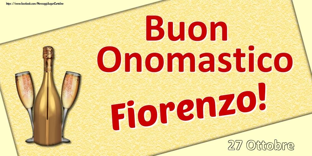 Cartoline di onomastico | Buon Onomastico Fiorenzo! - 27 Ottobre