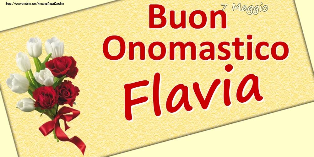 Cartoline di onomastico | 7 Maggio: Buon Onomastico Flavia