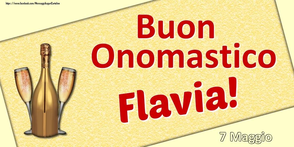 Cartoline di onomastico | Buon Onomastico Flavia! - 7 Maggio