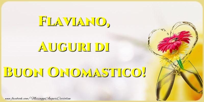 Cartoline di onomastico   Auguri di Buon Onomastico! Flaviano