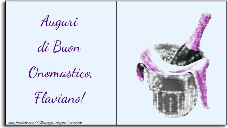 Cartoline di onomastico   Auguri di Buon Onomastico, Flaviano