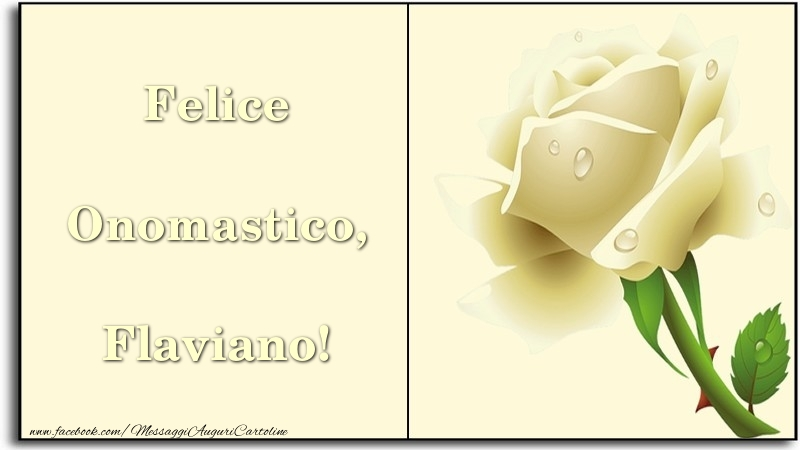 Cartoline di onomastico   Felice Onomastico, Flaviano