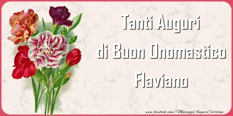 Cartoline di onomastico   Tanti Auguri di Buon Onomastico Flaviano