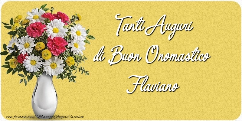 Cartoline di onomastico | Tanti Auguri di Buon Onomastico Flaviano