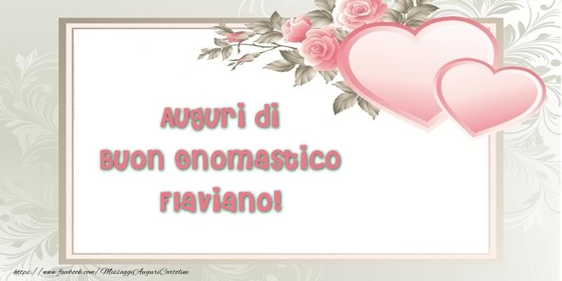 Cartoline di onomastico | Auguri di Buon Onomastico Flaviano!