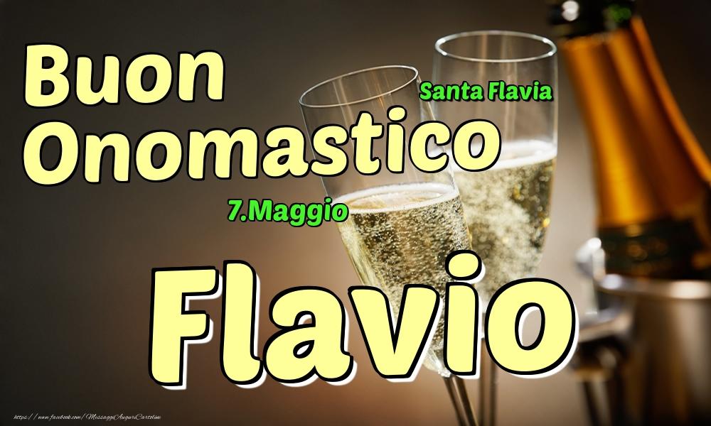 Cartoline di onomastico | 7.Maggio - Buon Onomastico Flavio!