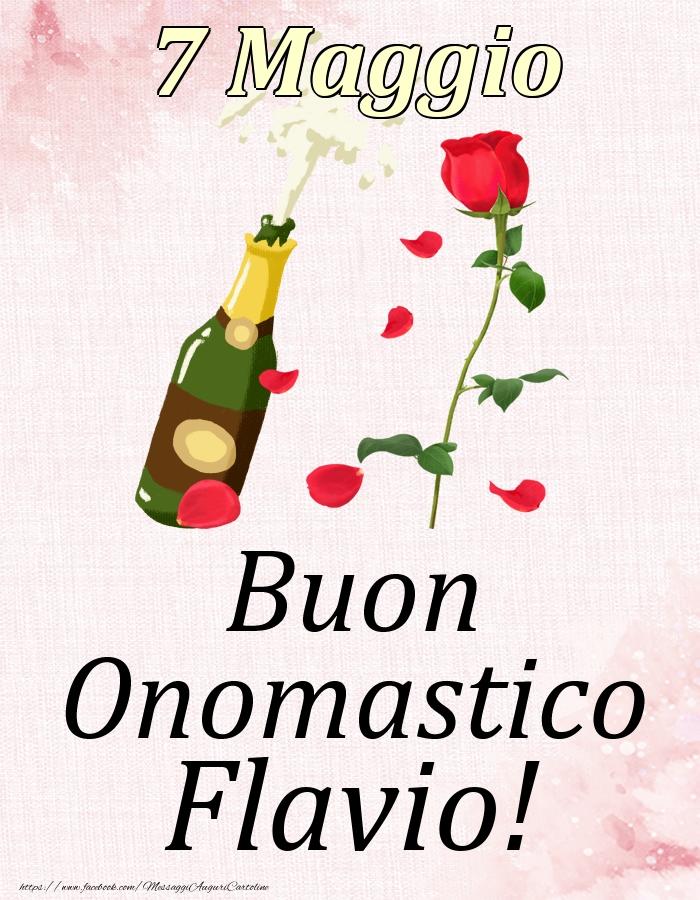 Cartoline di onomastico | Buon Onomastico Flavio! - 7 Maggio