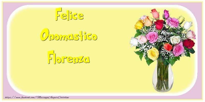 Cartoline di onomastico | Felice Onomastico Florenza