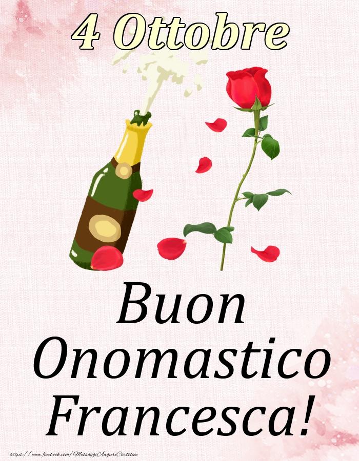 Cartoline di onomastico   Buon Onomastico Francesca! - 4 Ottobre