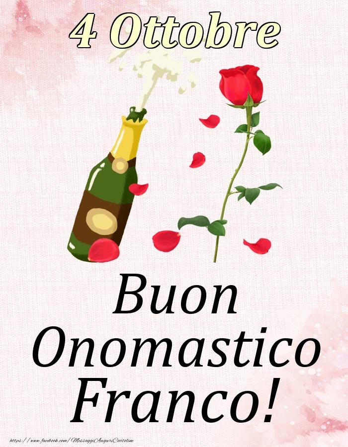 Cartoline di onomastico   Buon Onomastico Franco! - 4 Ottobre