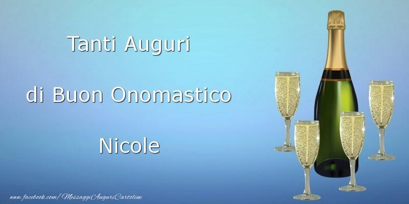 Cartoline di onomastico   Tanti Auguri di Buon Onomastico Nicole
