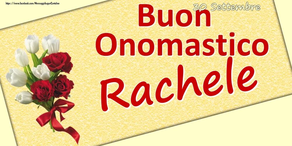 Cartoline di onomastico | 30 Settembre: Buon Onomastico Rachele